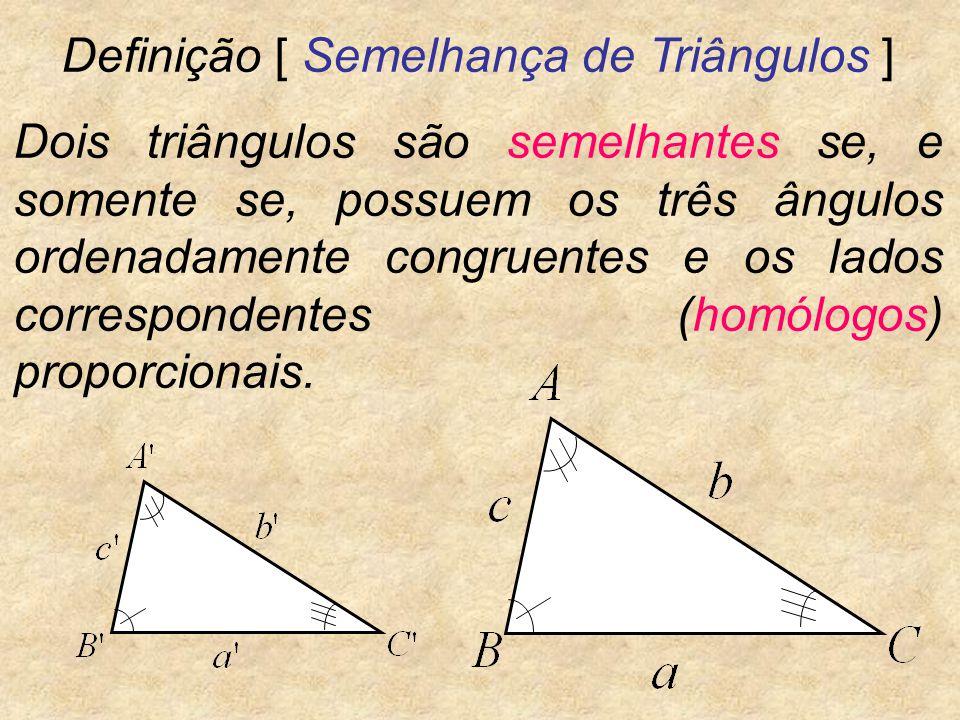 Definição [ Semelhança de Triângulos ]